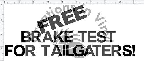 Free Brake Test