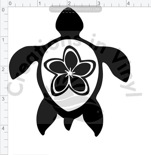 Turtle with Flower
