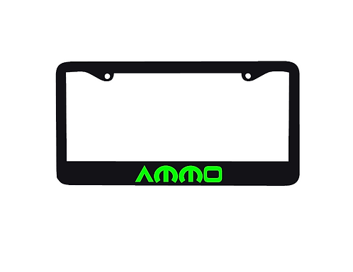 Ammo License Plate Holder