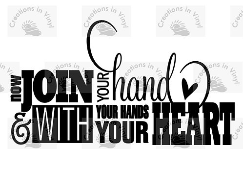 NOW JOIN YOUR HAND