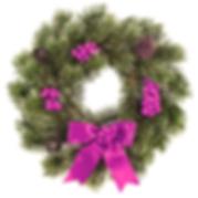 Christmas Wreath Purple