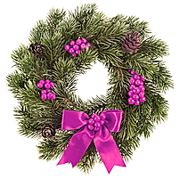 Christmas Wreath Purple