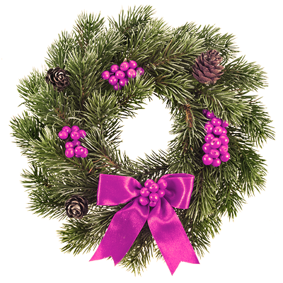 purple Christmas wreath