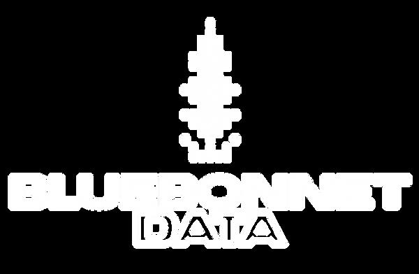 BLUEBONNET DATA LOGO (Vertical) - White