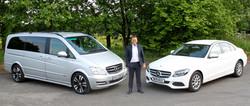 Mercedes V-Class and Land Rover Evoque