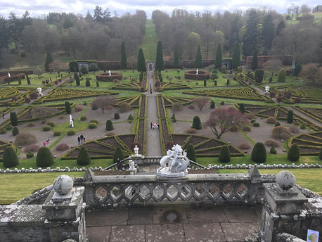 Drummond Castle and Gardens, Crieff some of the finest gardens in the UK and venue for numerous films and television series including Rob Roy and Outlander