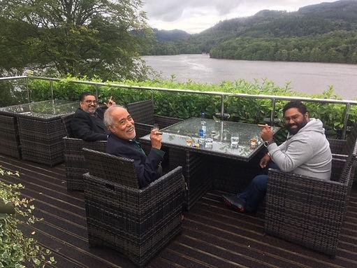 The Chandran Party from Malaysia/ India enjoying a 5 day Whisky Tour, Fonab Castle, Loch Tummel