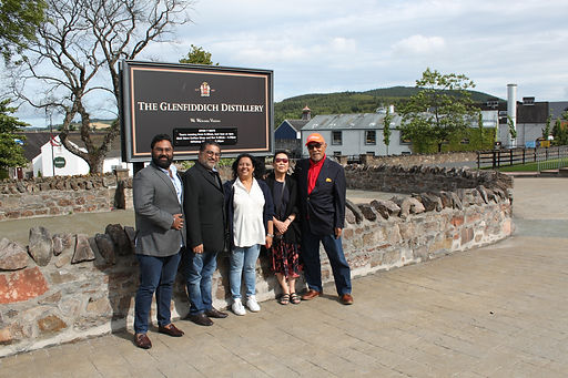 The Chandran Party from Malaysia/ India enjoying a 5 day Whisky Tour