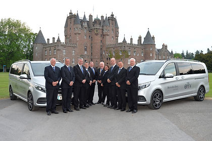 Driving The Open patrons venue Glamis Castle