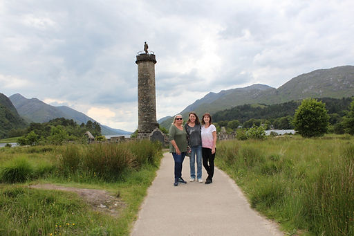 Judy, Michele and Nora from Massachusetts travelling from Edinburgh to Arisaig