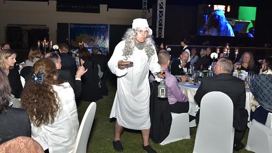 Networking in Muskat with Rock & Reel Ceilidh band performing at the Caledonian Society of Oman Grand Ball
