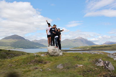The Porter family from Wisconsin visiting Loch Torridon on the North Coast 500
