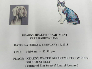 Kearny Health Department to Host Free Rabies Clinic