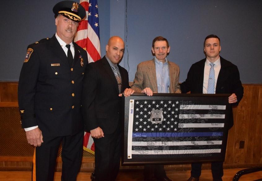 CJD flag w. cops