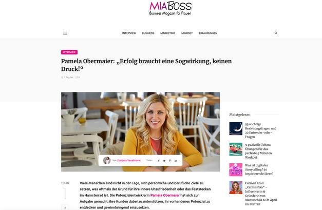 Pamela Obermaier im Interview mit MIA BOSS