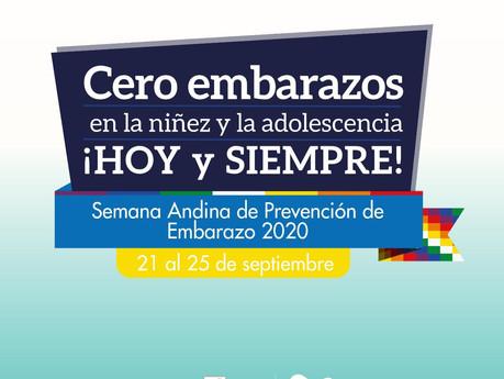 SEMANA ANDINA PREVENCIÓN DEL EMBARAZO 2020