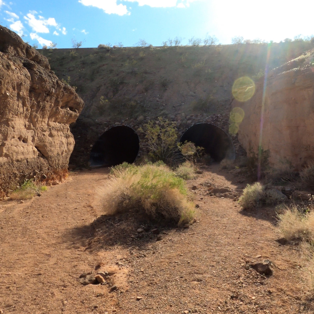 Culvert 2 & 3 the pass under The River Mountain Loop Trail