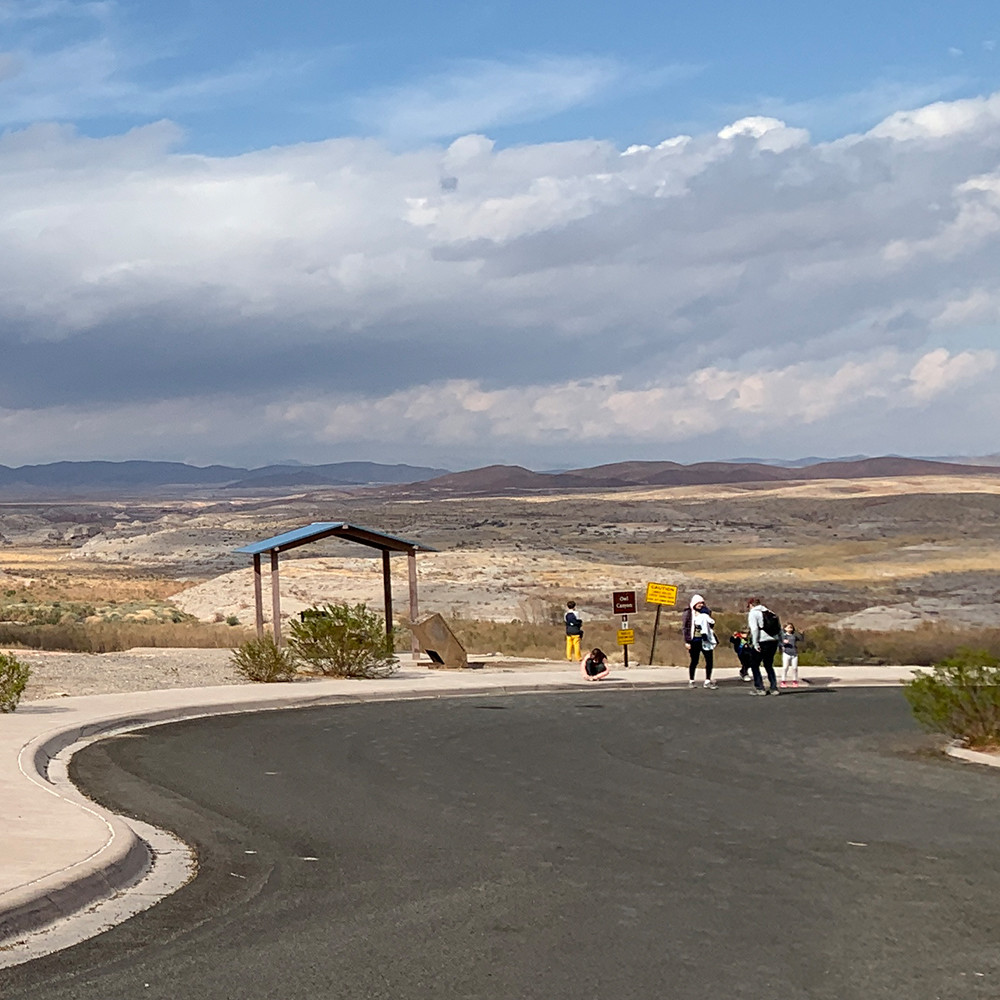 Hikers gather at the Owl Canyon Trailhead