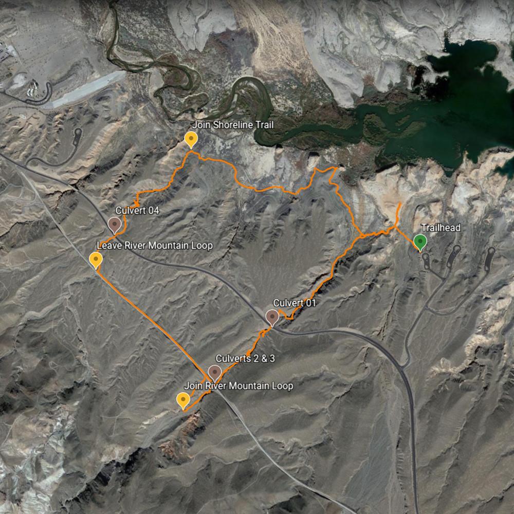 Owl Canyon Loop Map - Clockwise Travel