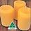 Thumbnail: Oz Beeswax Rustic Pillar Candles - 3 Pack