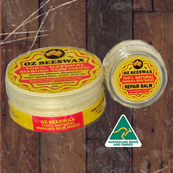 Oz Beeswax Manuka Honey Skin Magic and Lip Balm (50g + 20g)