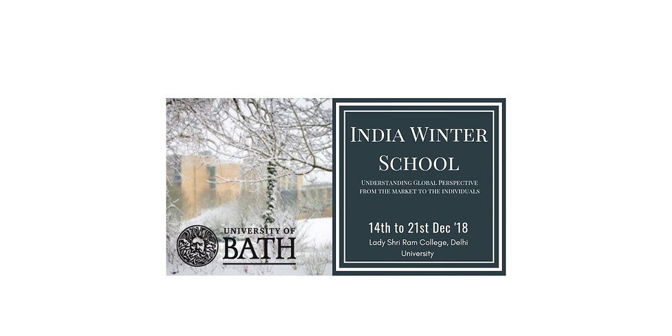 University of Bath India Winter School: Global responsibilities from the market to the individual