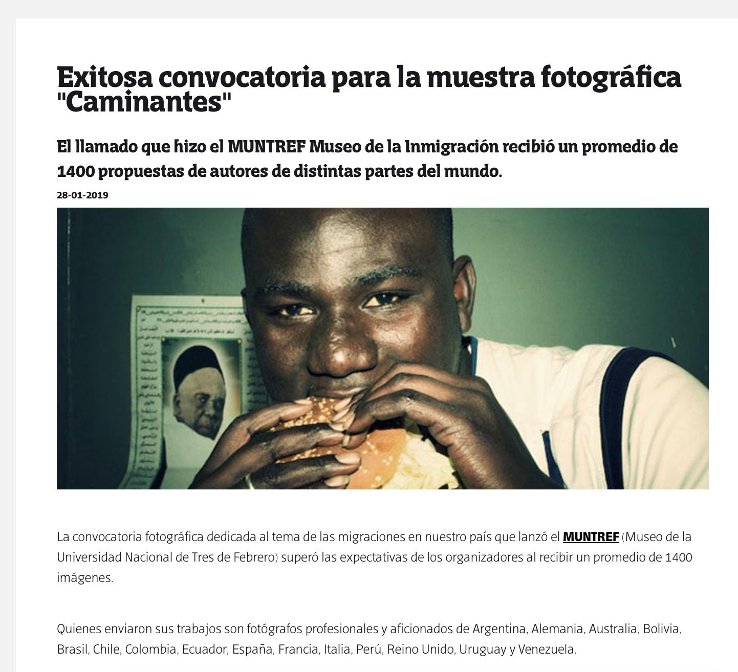 Caminantes - Muntref 2019
