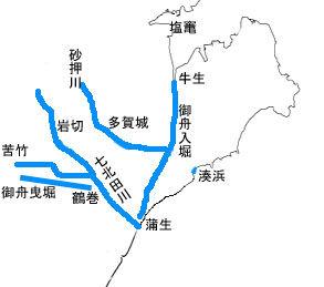 御舟入堀・御舟曳堀(寛文年間)