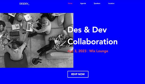 Eventos website templates – Design/UX Meetup