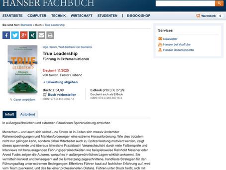 """Buch """"True Leadership"""" erscheint am 09.11.2020"""