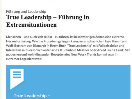 "Artikel ""True Leadership"" auf Consulting.de"