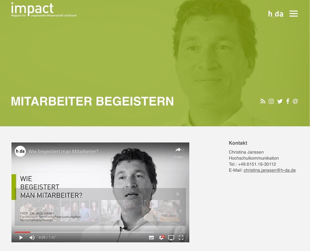 impact Magazing - Mitarbeiter begeistern