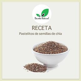 Pastelitos de semillas de chía