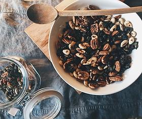 Receta de mezcla de frutos secos