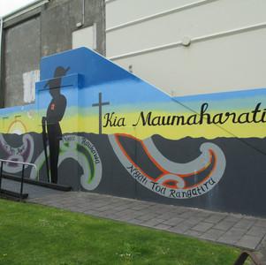 Cenotaph wall mural
