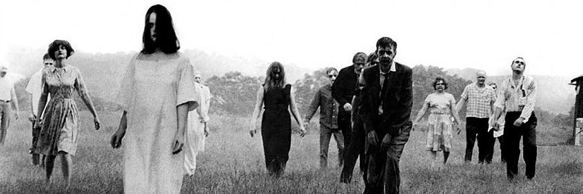"A scene from ""Night of the Living Dead' -- the predescessor to 'Dawn of the Dead' and the first in George Romero's ""dead"" series."