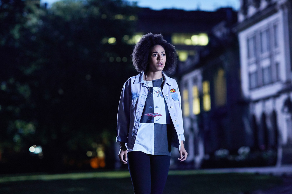 Pearl Mackie as the Doctor's latest companion --Photo courtesy of BBC America