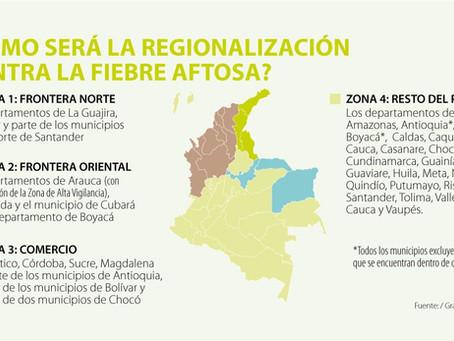 REGIONALIZAR EL PAÍS EN CUATRO SECTORES, ESTRATEGIA PARA MANTENER EL ESTATUS SANITARIO