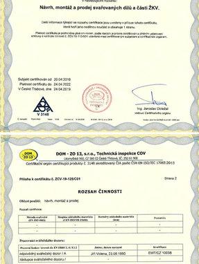 DOM - ZO 13, s.r.o., Technická inspekce COV