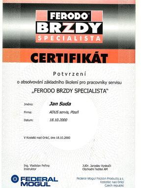 FERODO Brzdy Specialista 2000