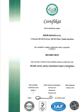URS Certifikát
