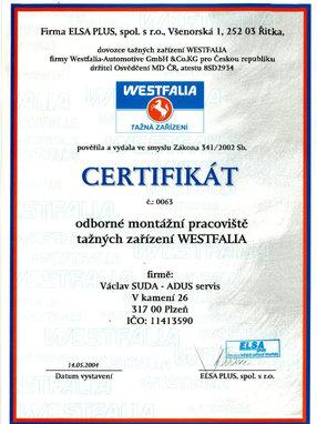 Westfalia Tažná Zařízení 2004