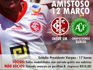 Amistoso - Inter SM x Chapecoense Sub-20
