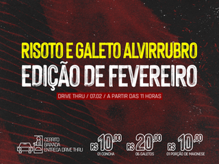 DRIVE THRU: 7º Risoto e Galeto Alvirrubro
