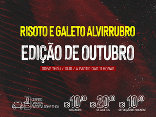 DRIVE THRU: 15º Risoto e Galeto Alvirrubro
