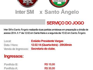 SERVIÇO - Inter SM x Santo Ângelo