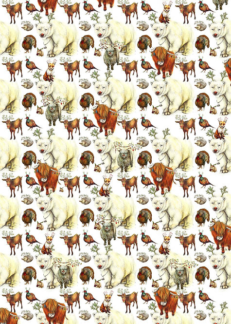 Everybody Wants To Be Rudolph wrapping paper