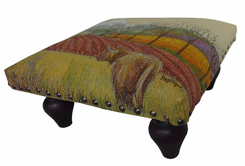 Highland Cow footstool