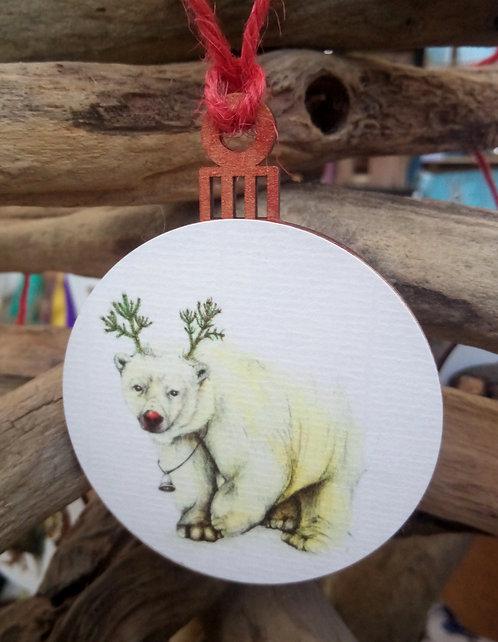 North Polar Bear Bauble