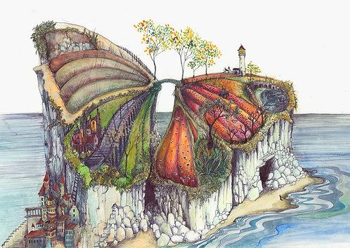 Butterfly Island Card